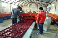 #Cold #roll #forming #machine, also known as color steel equipment, is used in various construction sites, factories, theaters and other commonly used color steel forming equipment. It can customize according to the needs of users of the pressure plate color pattern, size customization. Tile machine equipment debugging work is also very important, needing the professional and technical personnel in the field to guide the operation. Steel Roof Panels, Tile Steps, Roll Forming, Glazed Tiles, Cold Rolled, Roofing Contractors, Roof Repair, Color Patterns, Home Remodeling