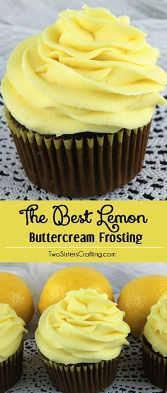 When life gives you lemons, make this delicious Best Lemon Buttercream Frosting… Frosting For Lemon Cake, Homemade Buttercream Frosting, Lemon Icing Recipe, Homemade Fondant, Butter Cream Icing Recipe, Best Frosting Recipe, Cupcake Icing Recipe, Lemon Cupcake Recipe Easy, Homemade Lemon Cake