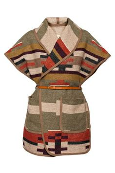 Navajo Wrap Sleeveless Jacket.  AMAZING