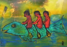 Eine Malerei mit amüsantem Motiv von Peter Ammon Outsider Art, Artist, Paintings, Random Stuff, Painting Art, Paint, Artists, Painting, Painted Canvas