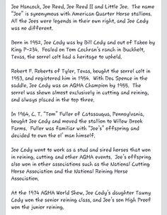 ...JOE CODY...