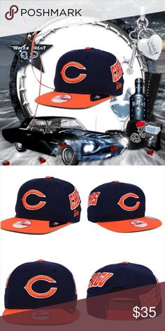 51cb2d093 Chicago Bears Swerve 9Fifty Snapback Cap 💭It s Chi-Town Babie💭 Chicago  Bears logo at front  raised embroidered team wordmark at crown  moisture  absorbing ...