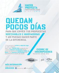 Convocatoria al Premio Haceb Proyecta Sostenibilidad.