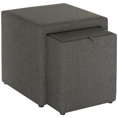 Cubbi Ottoman Sanse Charcoal | Click to shop now!