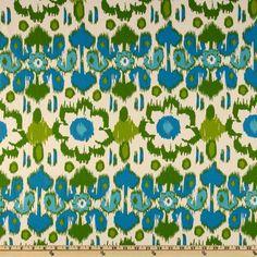 Premier Prints Rio Grasshopper/Blue/Natural- curtains?