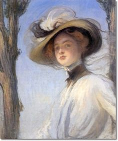 The Picture Hat by Edmund Charles Tarbell