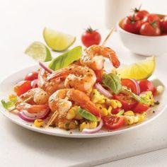 Coquilles gratinées au brocoli - Les recettes de Caty Plats Weight Watchers, Shrimp, Seafood, Meat, Chicken, Recipes, Poutine, Cocktails, Drinks