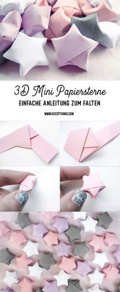 Folding DIY Paper Stars: Instructions for Origami Stars - N .- Folding DIY paper stars: Instructions for origami stars – Nicest Things - Kids Crafts, Easy Crafts For Teens, Diy Crafts For Teen Girls, Easy Diy Crafts, Diy For Teens, Diy Crafts To Sell, Kids Diy, Diy Paper Crafts, Decor Crafts