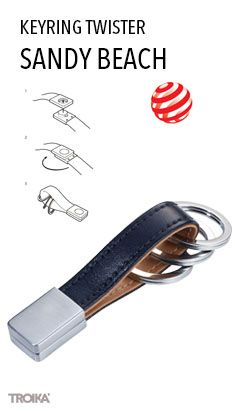 Troika s grip kniff2 business card case with special folding keyring with twist lock 3 keyrings reheart Images