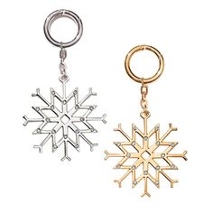 Joyful Beautiful Snowflake Bag Charm. For the lovers of all things winter—add a touch of snow and sparkle to your tote.