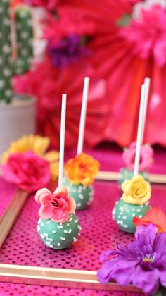 Coachella Party Theme Cake Pops - hawaiian luau party - Coachella Party Theme Cactus Cake Pops You are i - Mexican Birthday Parties, Mexican Party, Birthday Party Themes, Mexican Themed Cakes, Mexican Menu, Fiesta Theme Party, Taco Party, Fiesta Cake, Cake Pops