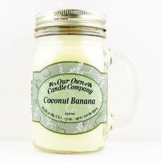 "Mason jar OUR OWN CANDLE COMPANY ""COCONUT BANANA"""