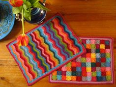 mini crochet blankets would make great table mats!