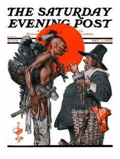 """Trading for a Turkey"" By J.C. Leyendecker. Issue: December 1, 1923. ©SEPS."