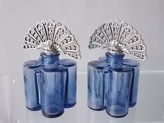 LILAC & PEWTER PERFUME Bottles Home Decor by DesirableVintage