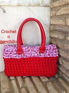 Crochet o ganchillo: BOLSO RED TRAPILLO