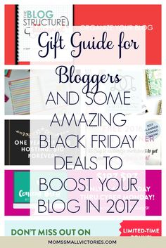 Holiday Gift Guide for Bloggers and some amazing Black Friday deals to boost your blog in 2017