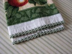 Tutorial - Easy Zig-Zag Crocheted Edging - Best photo tutorial found.  Idea:  do on pillow case edges too.
