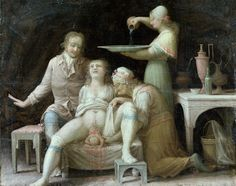 I can't say I like the look of this midwife, Amazing painting though.
