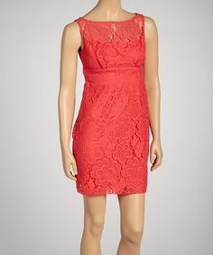 Take a look at this Poppy Lace Sleeveless Dress - Petite by Sandra Darren on #zulily today!