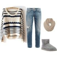 Knitted Sweater and Jeans Outfit for 2015
