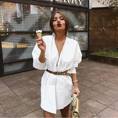 In A Search For A Perfect White Dress For Summer - Fashion - Summer Dress Outfits Mode Outfits, Fashion Outfits, Womens Fashion, Fashion Tips, Dress Fashion, Fashion Capsule, Fashion Ideas, Jeans Fashion, Fashion Websites