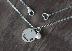 ONE Name Mommy Necklace - Hand Stamped Personalized Necklace. $33.00, via Etsy.