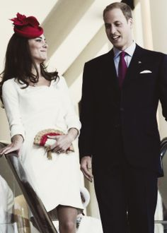 Team Cambridge - Love the way Kate is looking at Wills