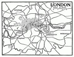 Vintage Printable Rustic London Map - Click for larger print artwork