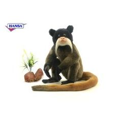 "Set of 2 Lifelike Handcrafted Extra Soft Plush Emperor Tamarin Monkey Stuffed Animals 11.75"" from Christmas Central at SHOP.COM"