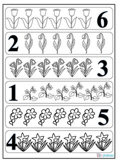 Worksheets For Kids, Math Worksheets, Spring Activities, Preschool Activities, Maila, Spring Theme, Crafts For Kids To Make, Flower Crafts, Spring Flowers