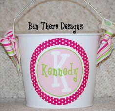 Easter Basket  5 Quart Personalized by BinThereDesigns on Etsy, $25.00