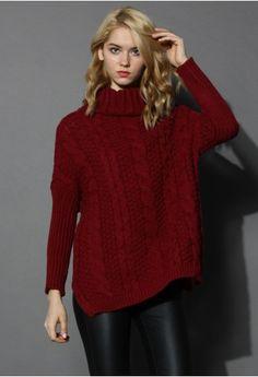 Sweater: Chicwish c/o | Turtleneck: J.Crew | Jeans: 7 FAM | Clutch: Claire Viver | Watch: MK | Bracelets: Stell...