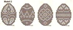 Lots of diagrams for adorable Easter/Spring lace doilies, baby blankets, etc. Filet Crochet, Crochet Motif, Diy Crochet, Crochet Patterns, Lace Doilies, Crochet Doilies, Cross Stitch Kitchen, Easter Cross, Crochet Potholders
