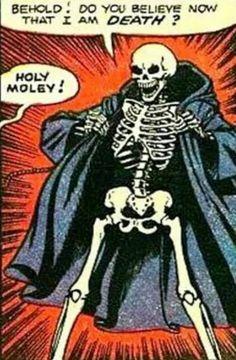 vintage comic #death #skeleton #cape