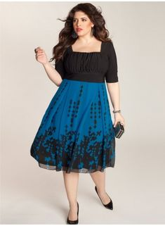Great design and coverage in this dress.  It can be a little too boxy for some figures. Averie Plus Size Dress