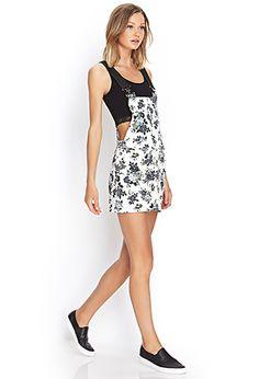 Floral Denim Overall Dress | FOREVER 21 - 2000062525
