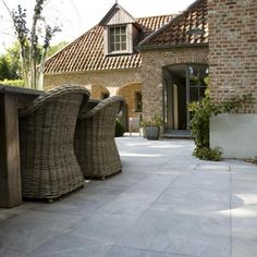 Tuinen on pinterest tuin modern gardens and terraces - Overdekt terras tegel ...