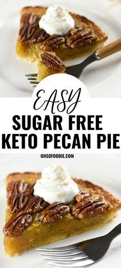 Sugar Free Pie Recipe, Sugar Free Pecan Pie, Keto Pecan Pie Recipe, Sugar Free Baking, Sugar Free Recipes, Sugar Free Deserts, Sugar Free Drinks, Diabetic Cake Recipes, Diabetic Deserts