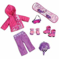 """My Life As Snowboard Set, 18"""" Doll My Life Doll Stuff, My Life Doll Clothes, Barbie Clothes, Ropa American Girl, American Girl Doll Sets, American Girl Crafts, Girl Dolls, Ag Dolls, Shopkins"""