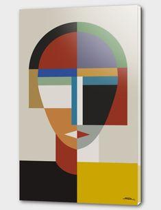 Women And Woman Canvas Art Print by The Usual Designers Art Carte, Abstract Geometric Art, Geometric Shapes, Cubism Art, Kunst Poster, Poster Prints, Art Prints, Arte Pop, Map Art