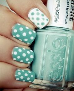 easy nail designs polka dots.. just bought this color :)