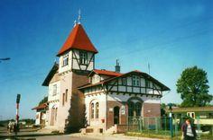 Zalew Wiślany - Tolkmicko, dworzec kolejowy.