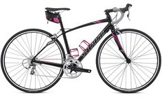 Specialized Dolce Womens Elite Compact in Black & Pink  MY BIKE! :)
