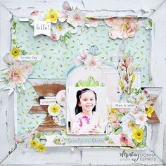 Mixed Media Scrapbooking, Scrapbooking Layouts, Scrapbook Paper Crafts, Scrapbook Pages, Banner, Bloom, Frame, Fun, Beauty