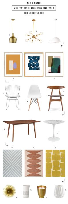 MIX & MATCH: INEXPENSIVE MID CENTURY MODERN FURNITURE | Sugar & Cloth