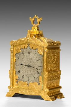 Very fine gilt case carriage clock from the London retailer Payne & Company, 163 New Bond Street. Unusual Clocks, Cool Clocks, French Clock, Classic Clocks, Carriage Clocks, Clock Shop, Retro Clock, Homemade 3d Printer, As Time Goes By
