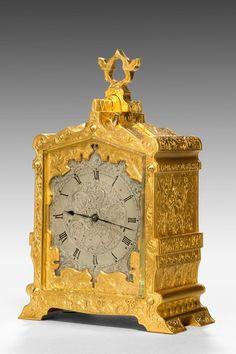 Very fine gilt case carriage clock from the London retailer Payne & Company, 163 New Bond Street.