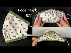 Easy Face Masks, Diy Face Mask, Small Sewing Projects, Sewing Hacks, Decorating Flip Flops, Diy Masque, Buy Mask, Crochet Faces, Crochet Slippers