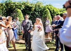 bride and groom just married http://www.itakeyou.co.uk/wedding/shabby-chic-rustic-wedding-ideas/